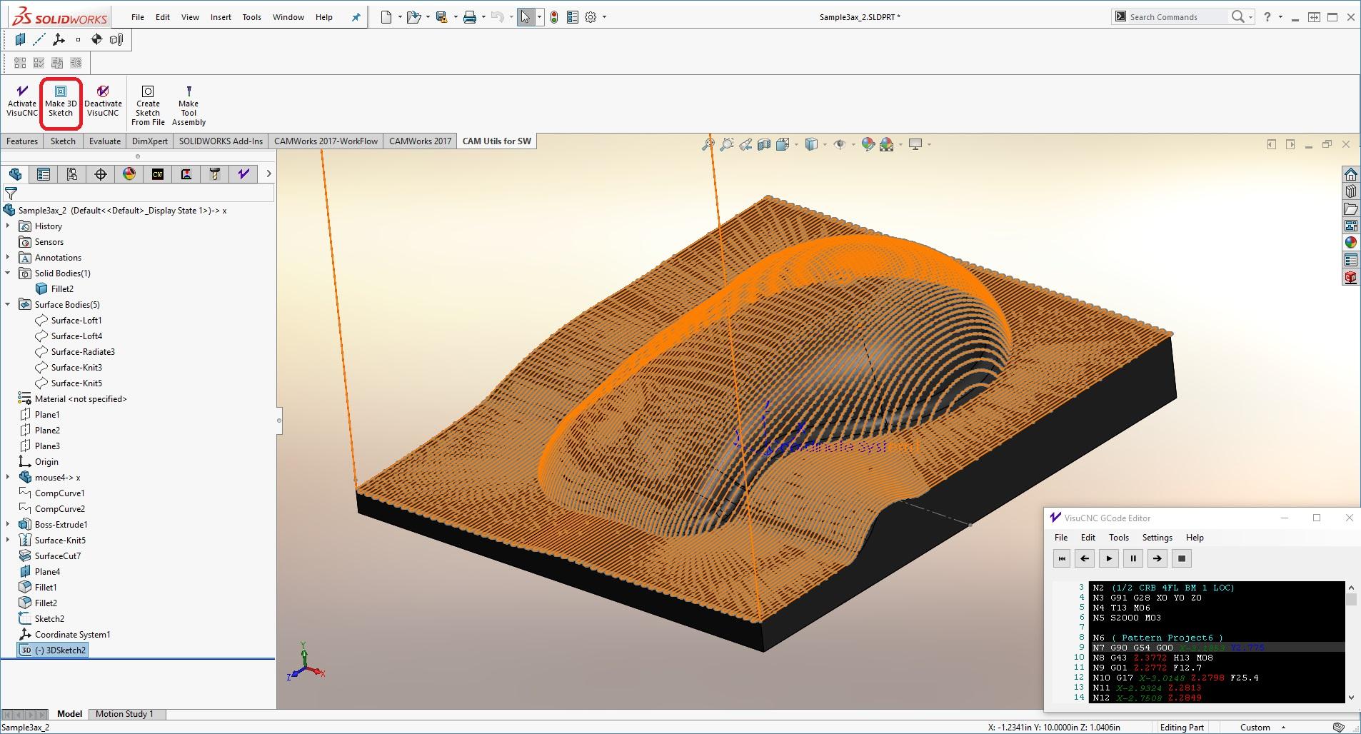 GCode to SOLIDWORKS 3D Sketch - CAD CAM Methods, LLC